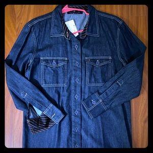 Hilfiger denim shirt dress sz.12 NWT